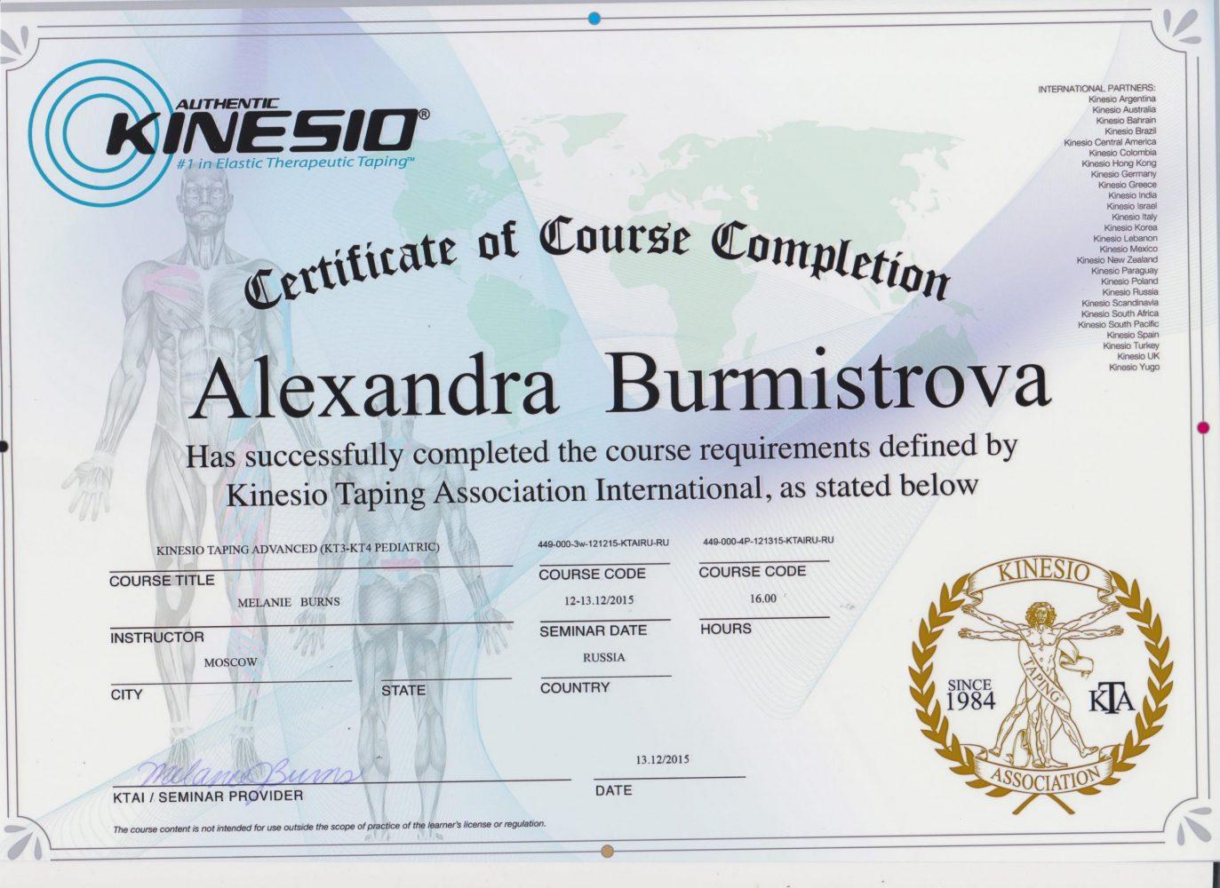 Бурмистрова сертификат 2